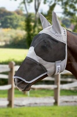 LEMIEUX COMFORT FLY SHIELD (FULL MASK EARS & NOSE) horse protection riding mask