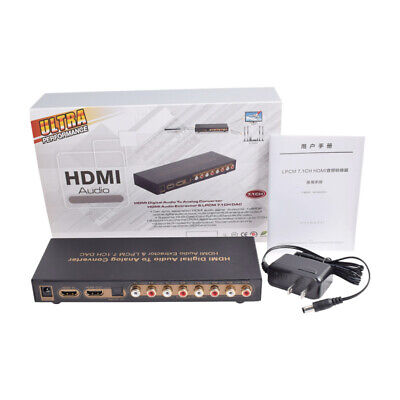 Digital to Analog HDMI to HDMI 7.1ch Audio Extractor Converter Optical LPCM DAC
