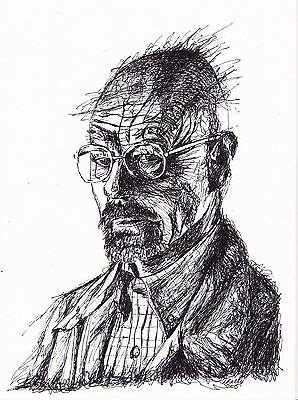 Breaking Bad Walter White Fan Art ORIGINAL Signed Ink Portrait Drawing A4