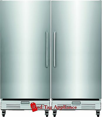 New Frigidaire Stainless Commercial NSF Food Grade Refrigerator & Freezer Combo