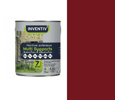 Peinture Rouge Basque 2.5L 7 Ans Multi Supports Direct Bois Fer Alu Pvc Galva