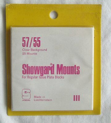 Showgard Stamp Mounts Size 57/55 Clear 1980's NOS