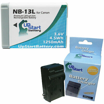 Battery + Charger for Canon NB-13L Battery
