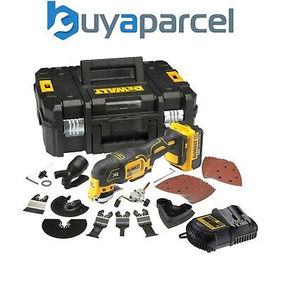 Dewalt DCS355M1 18v XR Brushless Oscillating Multi Tool + 35 Accessory Kit TSTAK
