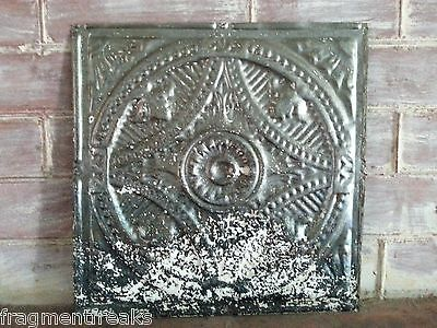 """12"""" x 12"""" Antique Tin Ceiling Tile *SEE OUR SALVAGE VIDEOS Raw Metal Q24"""