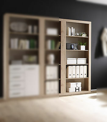 Regal in San Remo Eiche Bücherregal Aktenschrank Arbeitszimmer Woody 32-00049