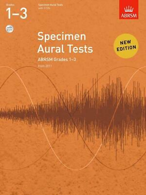 Specimen Aural Tests Grd 1-3 with 2 CDs; ABRSM, Ear Tests, FMW - 9781848492561