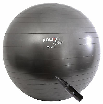 Gymnastikball Anti Burst Anthrazit Metallic 55 - 95 cm + Pumpe - Sitzball