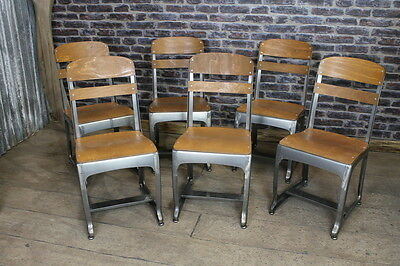 Vintage Industrial Style Eton School Chair Cafe Chair Retro Inspired Seating