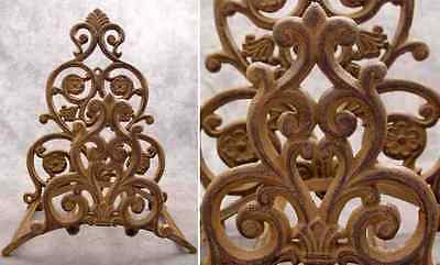 VICTORIAN SCROLL Cast Iron GARDEN HOSE HOLDER ~ Wall Mount ~ Antiqued Brown  ~