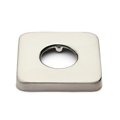 "Signature Hardware 1/2"" Square Shower Arm Flange in Brushed Nickel"