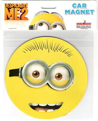 Despicable Me Movie Minion Two Eyes Goggle Face Large Car Magnet, NEW UNUSED