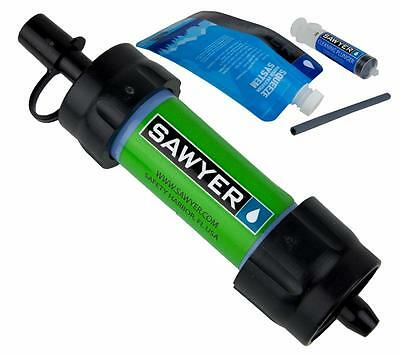 Sawyer Mini Water Filtration Kit Green Filters up to 100,000 Gallons SP101