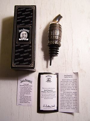 JACK DANIEL'S WHISKEY BARREL POURER silverplated NEW in BOX with COA spout