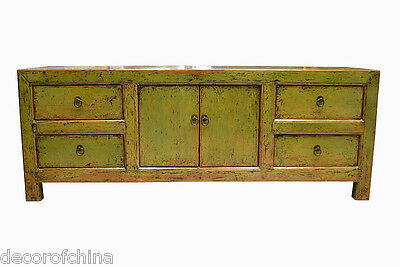 Nice Asian Chinese Solid Wood Low Cabinet TV Media Storage Stand Table JH21-04