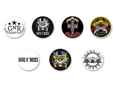 Lot Pack Badge Button Ø25mm Guns N' Roses GN'R GNR Hard Rock USA