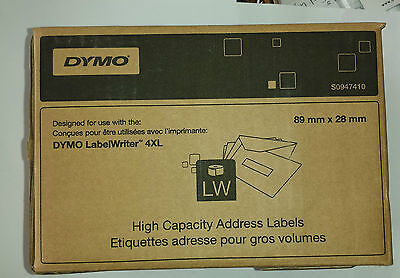 Genuine DYMO High Capacity Address Labels S0947410 2100 labels 4xl 89 x 28mm