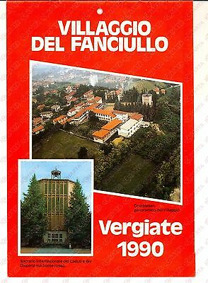 1990 VERGIATE Villaggio del Fanciullo - Calendario da parete ILLUSTRATO
