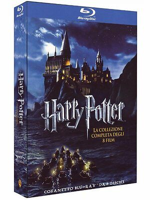 HARRY POTTER BLURAY COFANETTO 8 FILM COLLEZIONE COMPLETA ITA SIGILLATO blu-ray