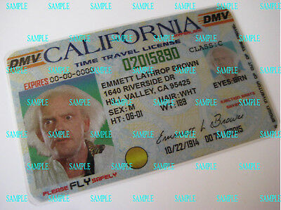 Back to the Future  Custom Made [ Doc Emmett Brown Time Travel License ] B3G1F