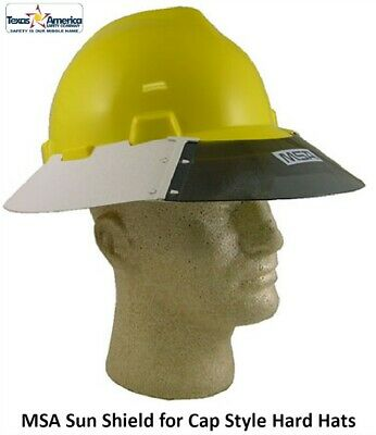 MSA 697290 V-GARD Plastic Sun Shield Visor for Cap Style Hard Hats ... cda1f82701b