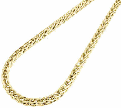 "Mens Bonded 1/20th 10k Yellow Gold 5mm Wheat Franco Chain Necklace 26"" - 36"""