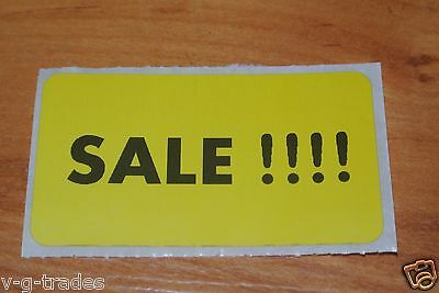 LOT 100 YELLOW Self-Adhesive Sales Price Labels Stickers / Tags Retail Store