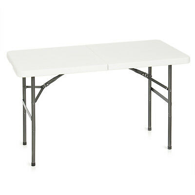 Folding Table 4FT Portable Plastic Outdoor Indoor Fold Picnic Party Dining Camp
