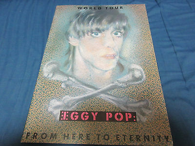 Iggy Pop 1983 Japan Tour Book Stooges From Here to Eternity Punk Concert Program