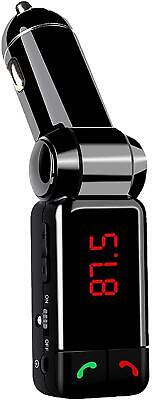 Wireless Bluetooth Fm Transmitter With Usb Charging Slot - For Android & Iphone