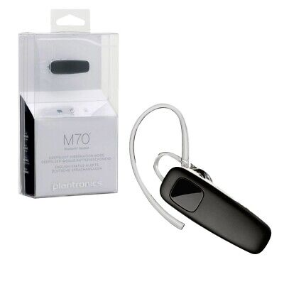 New Plantronics M70 Bluetooth Headset Hands Free for Apple and other Smartphones