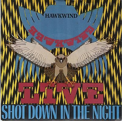 "HAWKWIND Shot Down In The Night 1980 UK 7"" Vinyl Single EXCELLENT CONDITION"