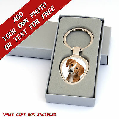Dog Pet Keyring ADD YOUR PHOTO or TEXT Resin DOMED Personalise Birthday Gift
