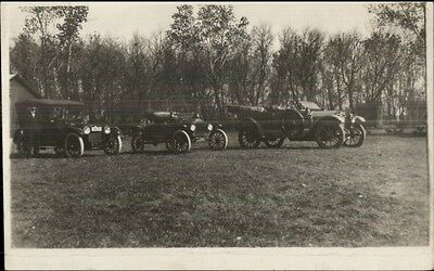 Early Cars Autos in Adv? c1910 Real Photo Postcard