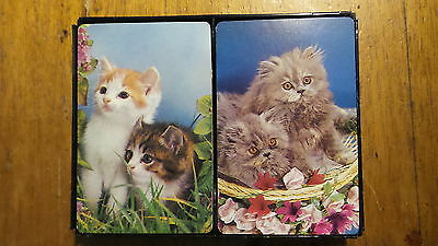 Vintage DECK OF CARDS PAIR Cats!
