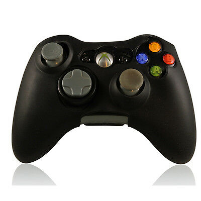 XBOX 360 Gamepad Controller Skin Silicone Rubber Grip Case Cover Black