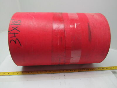 "2 Ply Red Urethane Smooth Top Conveyor Belt 18"" Wide 34Ft Long 0.205""Thick"