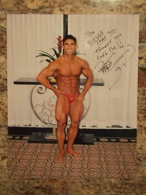 Bodybuilder Hand Signed Autographed bodybuilding muscle photo