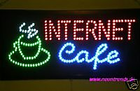 LED INTERNET Cafe Bord @ Leuchtreklame Schild LEDs sign