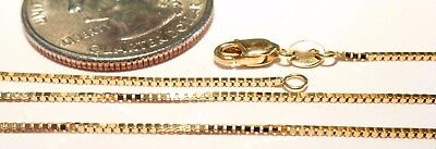14kt Solid Gold short 13 inch .8MM BOX CHAIN w/LOBSTER LOCK.....100% GUARANTEED!