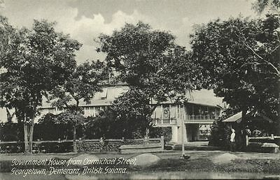 british guiana, GEORGETOWN DEMERARA, Government House from Carmichael Street