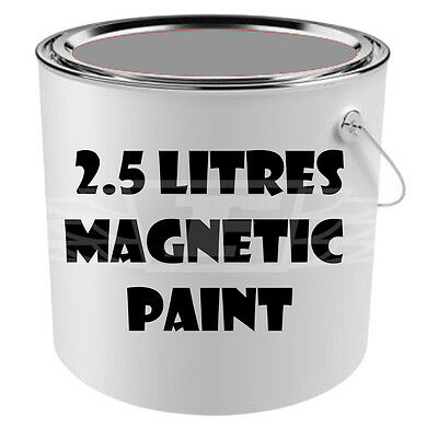 2.5 Litres Magnetic Wall Paint Dark Grey Attract Magnets Wall/table Childs Room