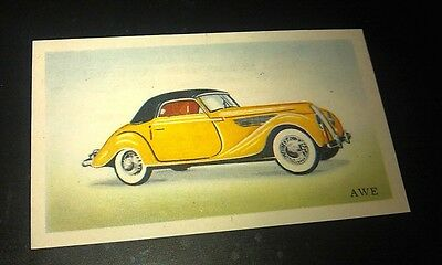 1956 AWE ( BMW ) - Van Melle Biscuits BELGIUM Trade Swap Card - RARE !