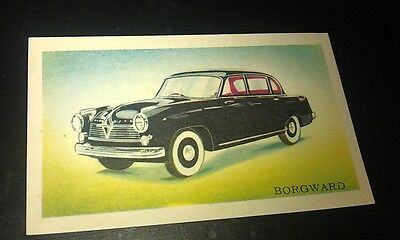 1956 BORGWARD - Van Melle Biscuits BELGIUM Trade Swap Card - RARE !