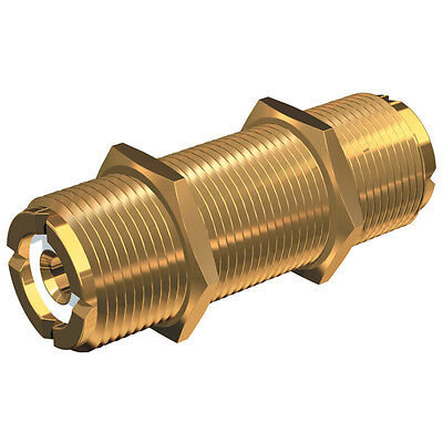 Shakespeare PL-258-L Gold Barrel Connector PL-259 Cable Coupler Adapter Extender