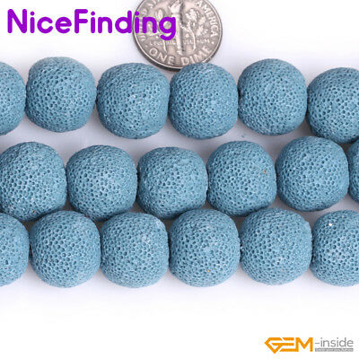 14mm Lava Rock Stone Round Beads For Jewelry Making Bracelet Gemstone Strand 15""