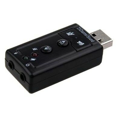 Portable Usb 2.0 3D Virtual 5.1Channel Pc Sound Card Free Postage In Uk