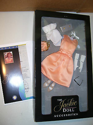 Franklin Mint The Jackie Doll Peach Day Dress Ensemble Outfit In Box Coa