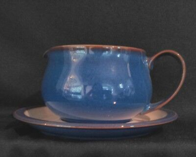 Denby - IMPERIAL BLUE - Gravy Boat & Stand BRAND NEW