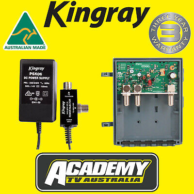 Mhw25F Kingray Digital Tv Masthead Amplifier Booster Inc Psk06 Power Supply